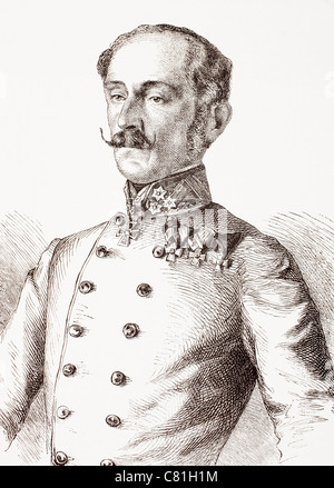 Ludwig August Ritter von Benedek, 1804 – 1881, aka Lajos Benedek. Austrian general of Hungarian descent. - Stock Photo