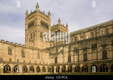 England Durham cathedral cloisters - Stock Photo