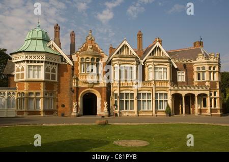 England Buckinghamshire, Bletchley Park, Mansion - Stock Photo