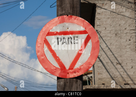 TRINIDAD: STOP SIGN - Stock Photo