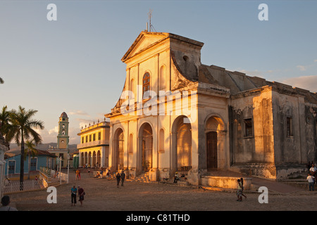 TRINIDAD: PLAZA MAYOR AND IGLESIA DE LA SANTISIMA TRINIDAD - Stock Photo
