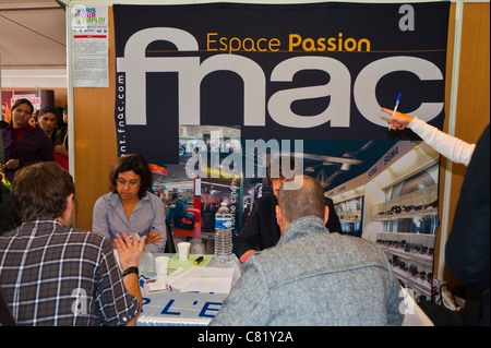 Paris, France, People at Paris Jobs Fair. FNAC Store Company Interviewing Job Applicants - Stock Photo