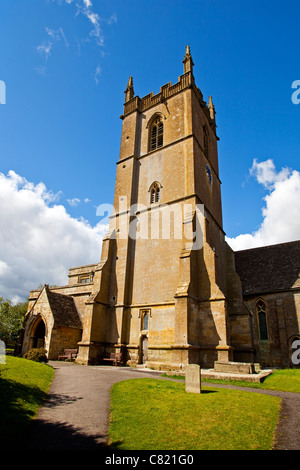 The Parish church of St. Edward's Stow on the Wold Gloucestershire UK - Stock Photo