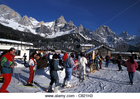 Trentino Alto Adige, San Martino di Castrozza - Stock Photo