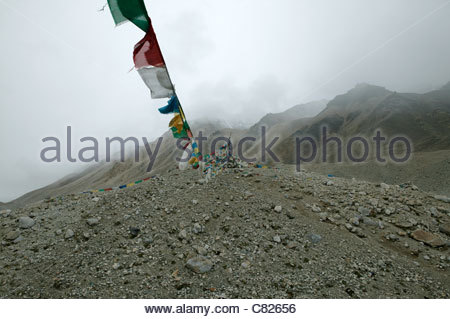 China, Tibet, Himalaya,Mt. Everest Base Camp - Stock Photo