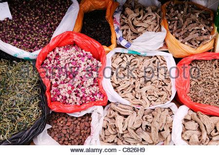 Chinese Medicine Natural Ingredients Lhasa, Tibet, China - Stock Photo