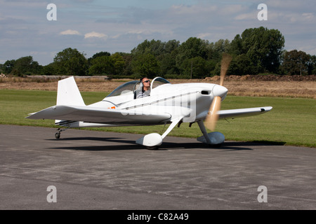 Vans RV-3A G-RODZ taxiing at Breighton Airfield - Stock Photo