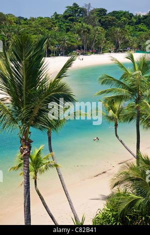 Palawan Beach on Sentosa Island, Singapore - Stock Photo