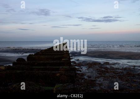 Seaton Carew beach - Stock Photo