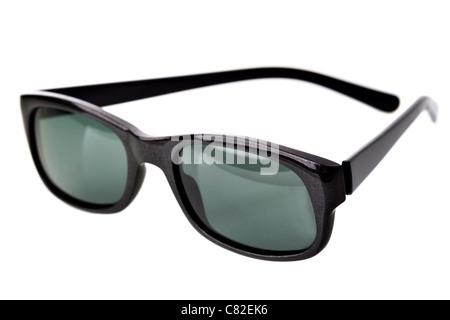 Black sunglasses isolated over the white background - Stock Photo