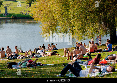 Hampstead Heath, NW3, London, United Kingdom - Stock Photo
