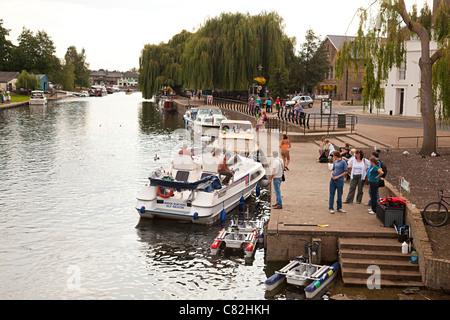 River Ouse at Ely, Cambridgeshire, UK - Stock Photo