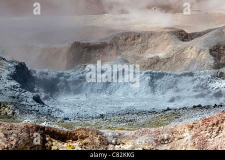 Sol de Manana geysers (Morning Sun), Bolivian Altiplano - Stock Photo