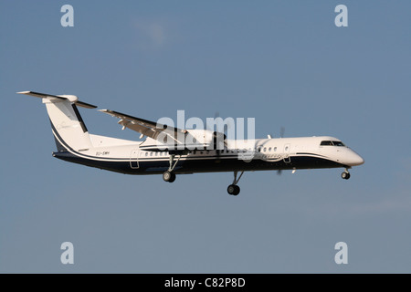 Bombardier Dash 8-Q400 regional airliner operated by Smart Aviation of Egypt - Stock Photo