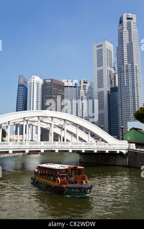 River Cruise in Singapore - Stock Photo