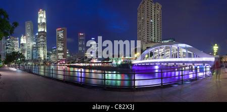 Boat Quay, Singapore - Stock Photo