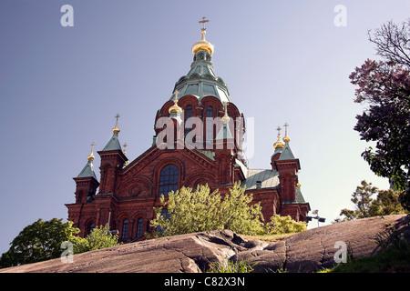 Uspenski Orthodox Cathedral, Helsinki, Finland - Stock Photo