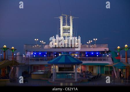 Deck of the Norweigian Jewel Cruise Ship - Stock Photo
