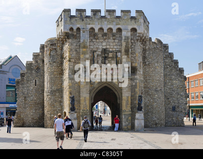 The Bargate medieval gateway in the city centre, Southampton, Hampshire, England, UK - Stock Photo