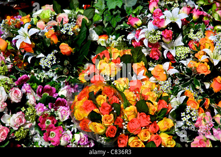 Bouquet of colorful flowers arranged in small vase stock for A lot of different flowers make a bouquet