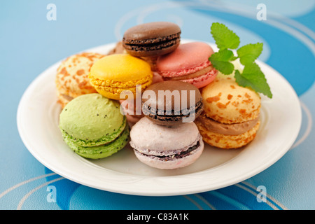 Macaroons. Typical French food. - Stock Photo