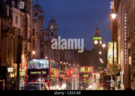 A View looking down Whitehall from Trafalgar Square, London, England - Stock Photo