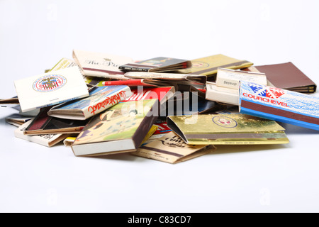 Matchboxes collection - Stock Photo