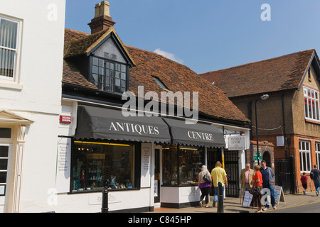 Antiques Centre, Ely Street, Stratford upon Avon, Warwickshire, England, UK - Stock Photo