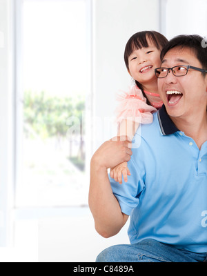 happy family lifestyle . father and little girl. - Stock Photo