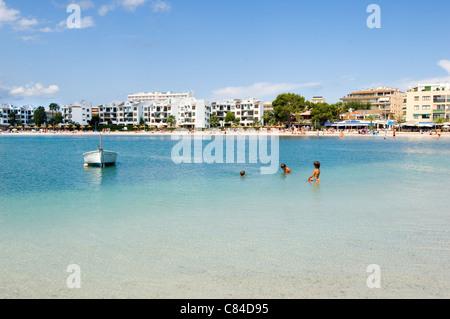 Mallorca, Port de Alcudia, beach - Stock Photo