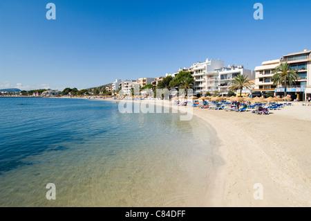 Mallorca, Port de Pollenca, beach - Stock Photo