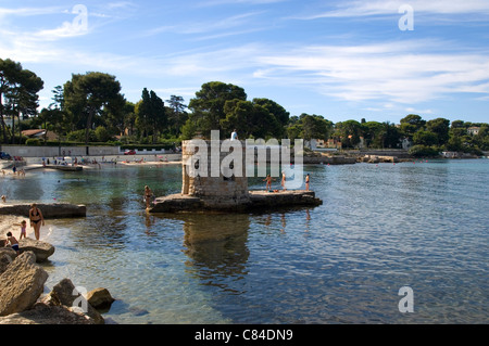 Cap d'Antibes, small beach for families - Stock Photo