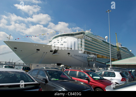 Cruise liner Navigator of the Seas of the Royal Caribbean fleet. - Stock Photo