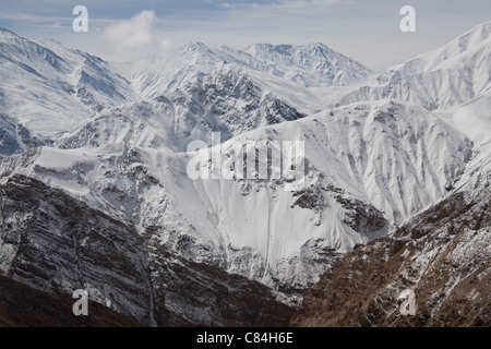 Mountain Peaks,Spiti Valley Himachal Pradesh, India - Stock Photo