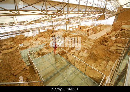 EPHESUS (EFES), TURKEY. An elevated view of the terraced houses restoration project. 2011. - Stock Photo