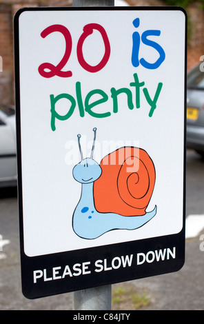 Speed Sign Lyndhurst, Hampshire, England - Stock Photo