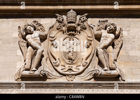 Avignon: Paul V's Coat-of-Arms - Stock Photo