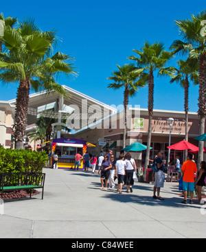 Outlet mall in Lake Buena Vista Orlando Florida. - Stock Photo