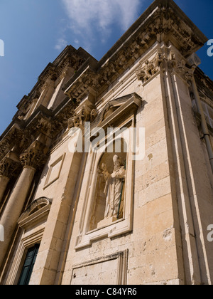 The Cathedral in the Walled City of Dubrovnic in Croatia Europe - Stock Photo