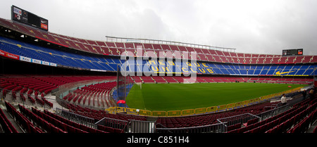 Camp Nou, the home of FC Barcelona - Stock Photo