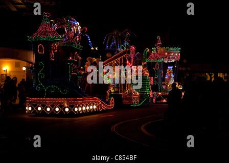 Magic Kingdom Parade at Night - Stock Photo