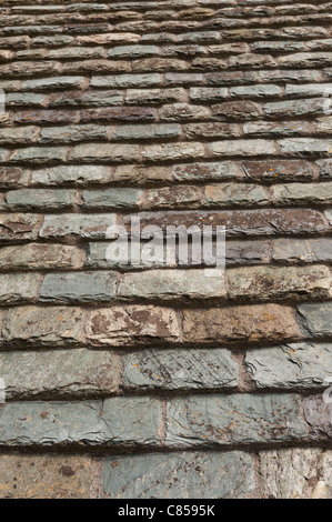Hand Made Individual Shale And Slate Roof Tiles Typical Of