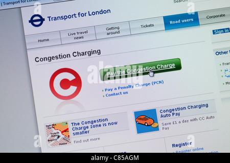 congestion charge, london, england - Stock Photo