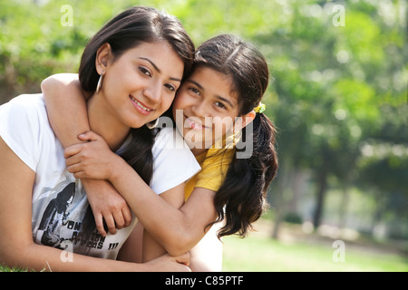 Portrait of mother and daughter - Stock Photo