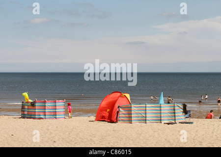 The beach at Sutton-on-Sea - Stock Photo