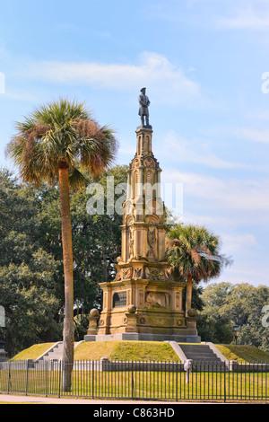 Confederate Memorial, Forsyth Park, Savannah - Stock Photo