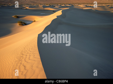 Mesquite Flat Sand Dunes, Death Valley National Park - Stock Photo