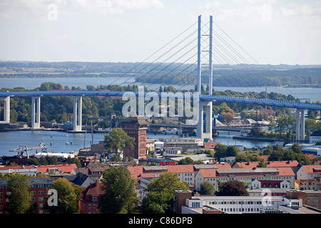 Ruegen Bridge, Hanseatic City of Stralsund, Mecklenburg-Vorpommern, Germany - Stock Photo