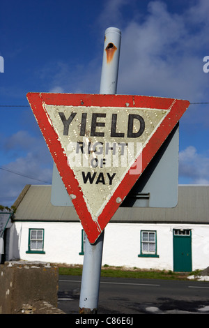 Upside Down Triangle Meaning >> yield sign in Ireland Stock Photo, Royalty Free Image: 77120220 - Alamy