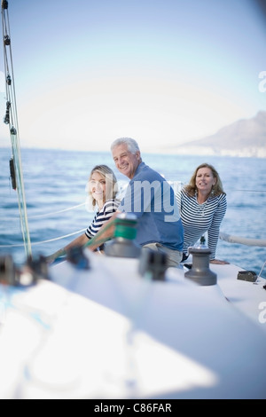 People sitting together on boat - Stock Photo